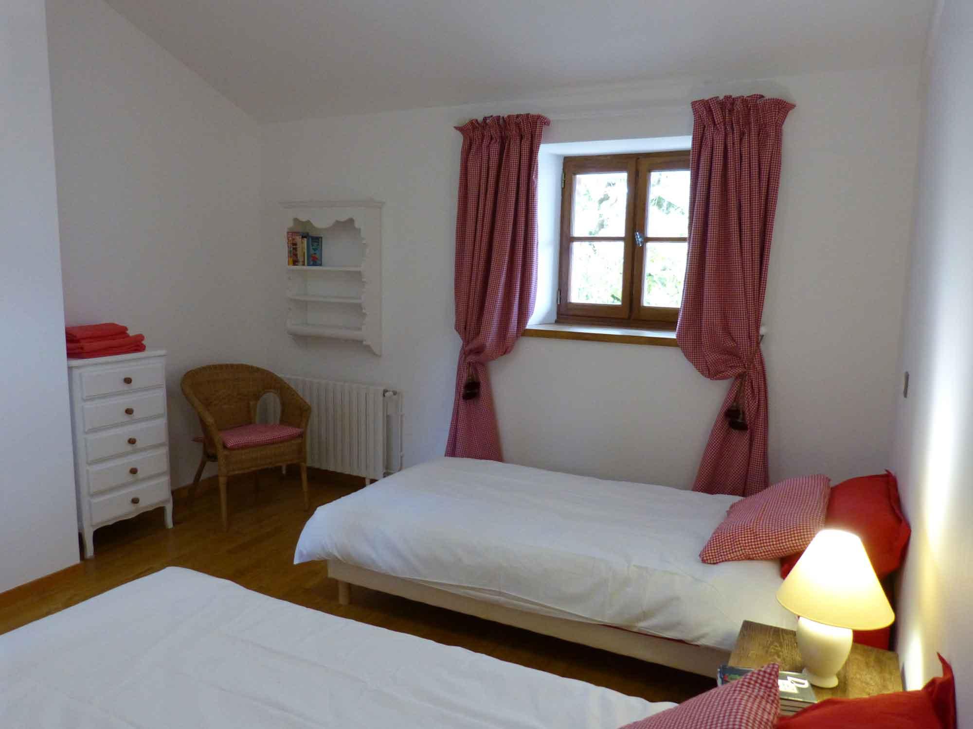 Photo d'une des chambres du gîte